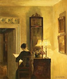 woman-reading-by-lamplight